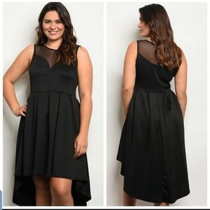 NEW Plus Size Black Hi Lo with Lace Dress